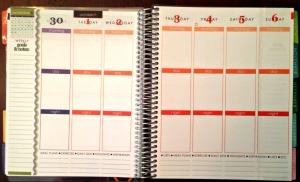 inside of planner calendar